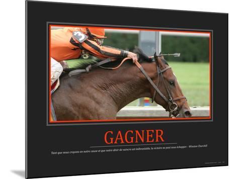 Gagner (French Translation)--Mounted Photo