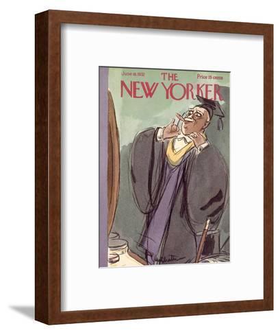 The New Yorker Cover - June 18, 1932-William Galbraith Crawford-Framed Art Print