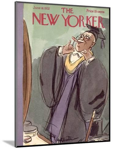 The New Yorker Cover - June 18, 1932-William Galbraith Crawford-Mounted Premium Giclee Print