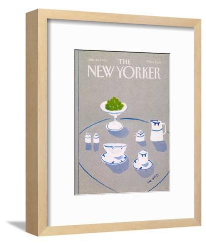 The New Yorker Cover - January 14, 1985-Eve Olitsky-Framed Art Print