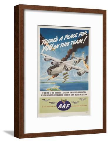 There's a Place for You on This Team-Clayton Knight-Framed Art Print