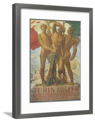 Turin Poster-Adolfo De Karolis-Framed Art Print