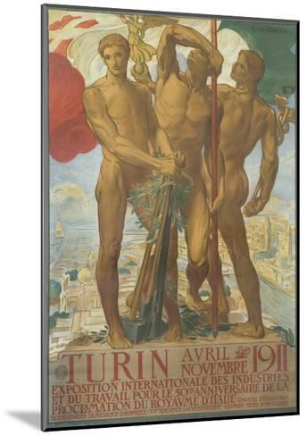 Turin Poster-Adolfo De Karolis-Mounted Giclee Print