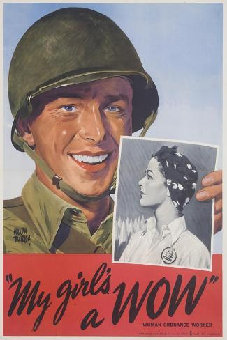 My Girl's a Wow Poster-Adolph Treidler-Stretched Canvas Print