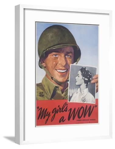 My Girl's a Wow Poster-Adolph Treidler-Framed Art Print