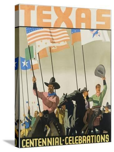 Texas Centennial Celebrations Poster--Stretched Canvas Print