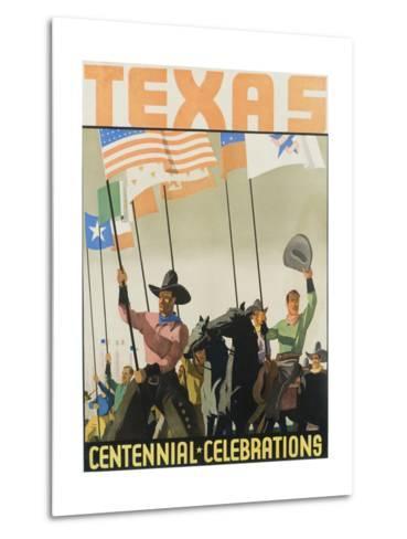 Texas Centennial Celebrations Poster--Metal Print