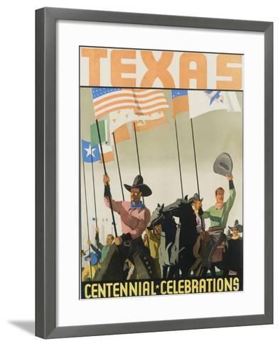 Texas Centennial Celebrations Poster--Framed Art Print