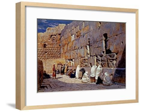 The Wailing Wall, Jerusalem, Israel-Carl Werner-Framed Art Print
