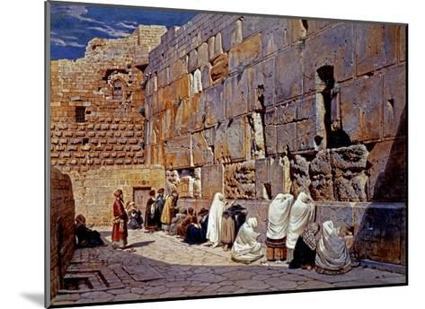 The Wailing Wall, Jerusalem, Israel-Carl Werner-Mounted Giclee Print