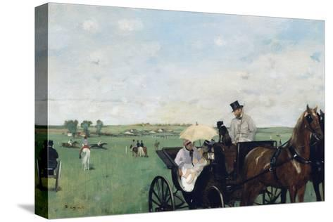 At the Races in the Countryside-Edgar Degas-Stretched Canvas Print