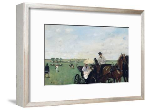 At the Races in the Countryside-Edgar Degas-Framed Art Print