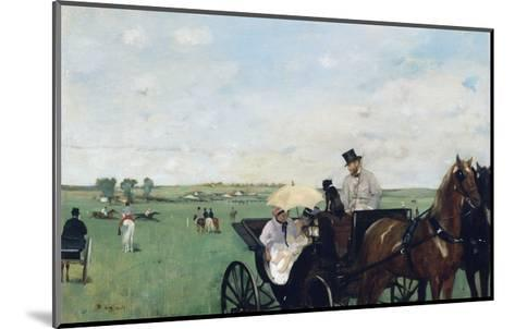 At the Races in the Countryside-Edgar Degas-Mounted Giclee Print