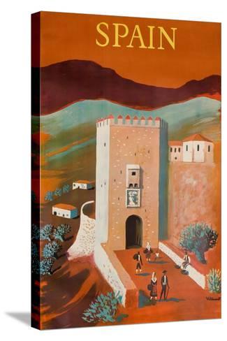 Spain Poster-Bernard Villemot-Stretched Canvas Print