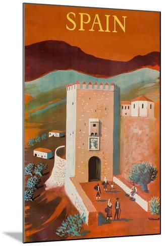 Spain Poster-Bernard Villemot-Mounted Giclee Print
