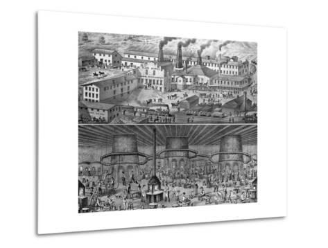 The Glassworks of J. H. Hobbs, Brockunier, and Co., Wheeling, West Virginia--Metal Print