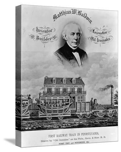 Matthias W. Baldwin, Inventor and Builder, Locomotive 'Old Ironsides'-P. F. Goist and Frederick Gutekunst-Stretched Canvas Print