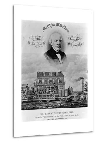 Matthias W. Baldwin, Inventor and Builder, Locomotive 'Old Ironsides'-P. F. Goist and Frederick Gutekunst-Metal Print