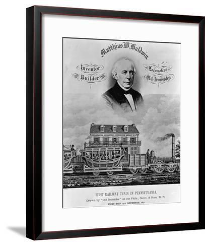 Matthias W. Baldwin, Inventor and Builder, Locomotive 'Old Ironsides'-P. F. Goist and Frederick Gutekunst-Framed Art Print