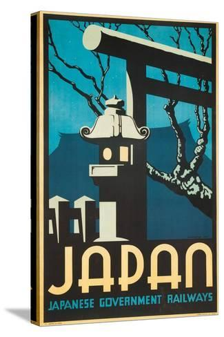 Japan Japanese Government Railways Poster-P. Irwin Brown-Stretched Canvas Print