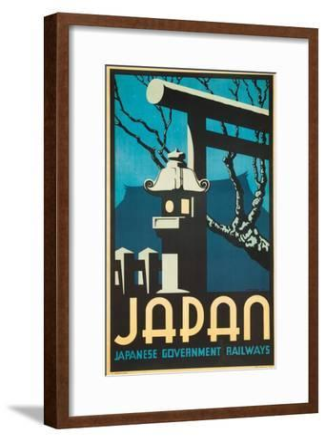 Japan Japanese Government Railways Poster-P. Irwin Brown-Framed Art Print