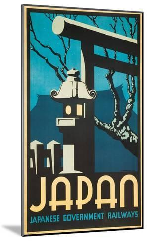 Japan Japanese Government Railways Poster-P. Irwin Brown-Mounted Giclee Print