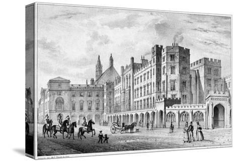 Print of Houses of Parliament before 1834 Fire--Stretched Canvas Print