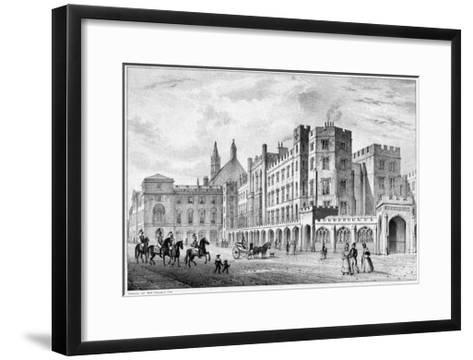 Print of Houses of Parliament before 1834 Fire--Framed Art Print