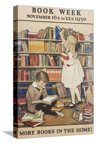 Book Week Poster-Jesse Willcox Smith-Stretched Canvas Print