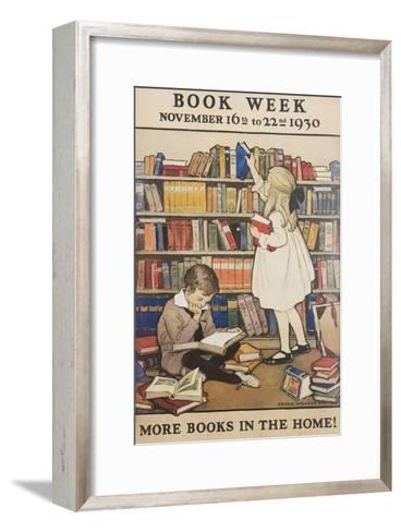 Book Week Poster-Jesse Willcox Smith-Framed Art Print