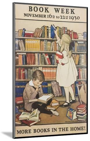 Book Week Poster-Jesse Willcox Smith-Mounted Giclee Print