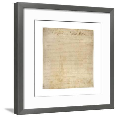 The Bill of Rights--Framed Art Print
