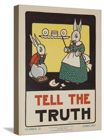 1932 American Citizenship Poster Tell the Truth--Stretched Canvas Print