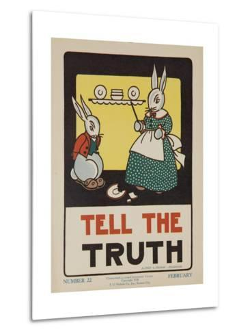 1932 American Citizenship Poster Tell the Truth--Metal Print