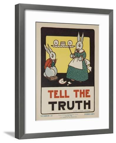 1932 American Citizenship Poster Tell the Truth--Framed Art Print