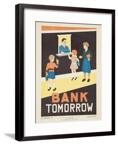 1938 Character Culture Citizenship Guide Poster, Bank Tomorrow--Framed Art Print