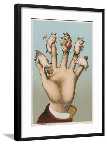 Five Pigs on Five Fingers--Framed Art Print