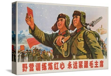 Always Follow Chairman Mao, Chinese Cultural Revolution--Stretched Canvas Print