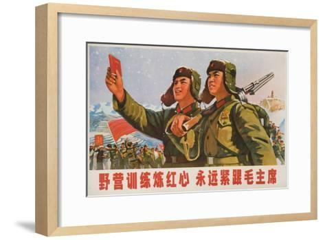 Always Follow Chairman Mao, Chinese Cultural Revolution--Framed Art Print