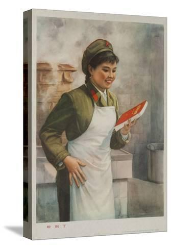 Mao's Book Is Finally Here! Chinese Cultural Revolution--Stretched Canvas Print