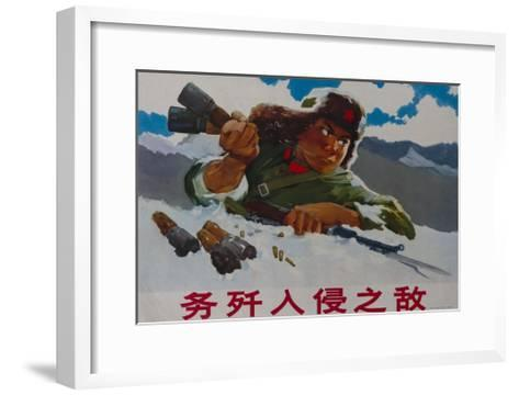Annihilate the Invading Enemy, 1970s Chinese Cultural Revolution--Framed Art Print