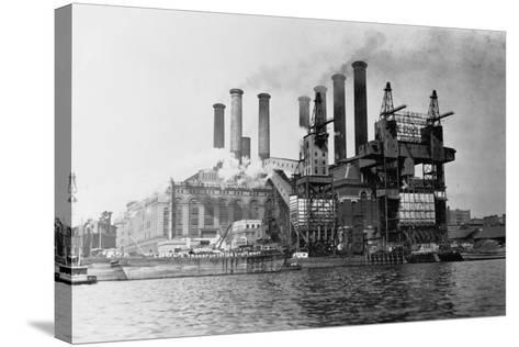 New York Edision Company Power Plant--Stretched Canvas Print