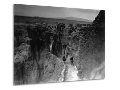 Old Trail at Acoma-Edward S^ Curtis-Metal Print