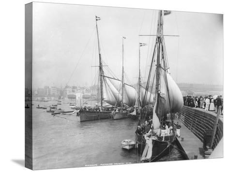 Sailing Yachts at Ramsgate--Stretched Canvas Print