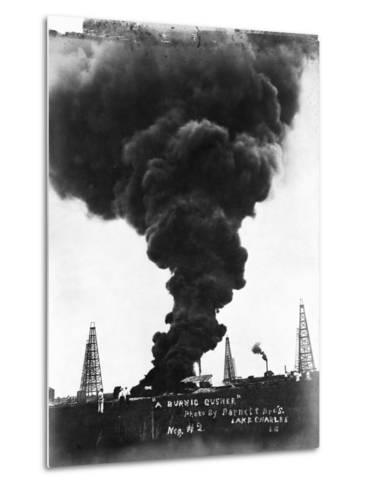 Smoke Billowing from an Oil Well Fire--Metal Print