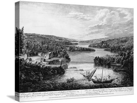 Miramichi Settlement on the Gulf of Saint Lawrence-Paul Sanby-Stretched Canvas Print