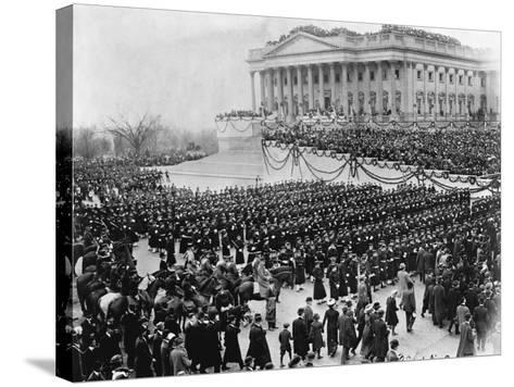 Naval Academy Cadets Attending Wilson's Inauguration--Stretched Canvas Print