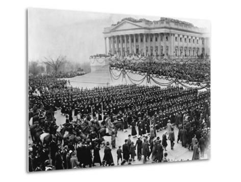 Naval Academy Cadets Attending Wilson's Inauguration--Metal Print