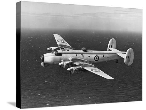 Avro Shackleton Patrolling Coastal Waters--Stretched Canvas Print