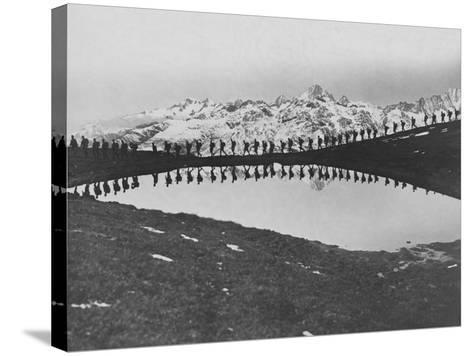 Soldiers Pass Mountain Lake--Stretched Canvas Print